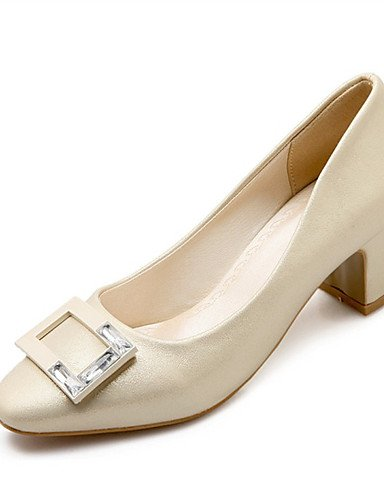 WSS 2016 Chaussures Femme-Mariage / Habillé / Décontracté / Soirée & Evénement-Rose / Blanc / Gris / Beige-Gros Talon-Talons-Talons-Similicuir white-us8 / eu39 / uk6 / cn39