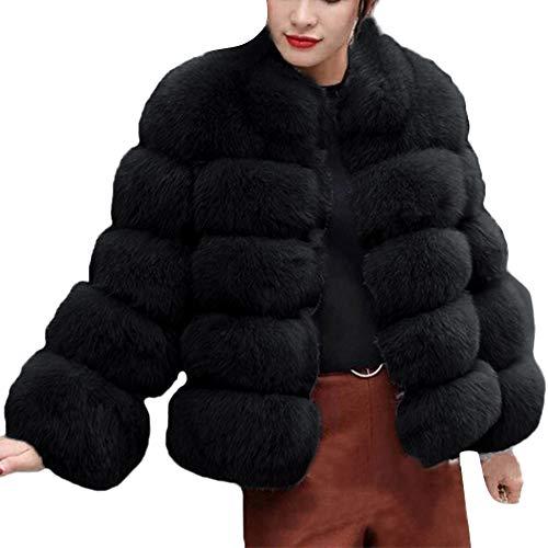 iHENGH Neujahrs Karnevalsaktion Damen Herbst Winter Bequem Mantel Lässig Mode Jacke Frauenmode Luxus Faux Pelzmantel Stand Herbst Winter Warm Mantel