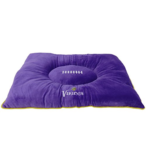 Pets First NFL Pet Bed-Minnesota Vikings Soft & Cozy Plüsch Kissen.-Fußball Hundebett Cuddle, warm Sport Matratze Bett für Hunde und Katzen - Sport Minnesota