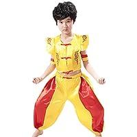 Fuyingda Mangas Unisex Niños Tang Traje de Artes Marciales Kung Fu Uniformes Ropa De Tai Chi Disfraces