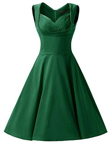 Dresstells, Version2.0 Vintage 1950's Audrey Hepburn robe de soirée cocktail, bal style années 50 Rockabilly Swing Vert