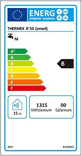 Thermex THEBOIIF50SMA Boiler, intelligenter Flach-Warmwasserspeicher, 50 Liter IF 50 Smart 230 V, Weiß