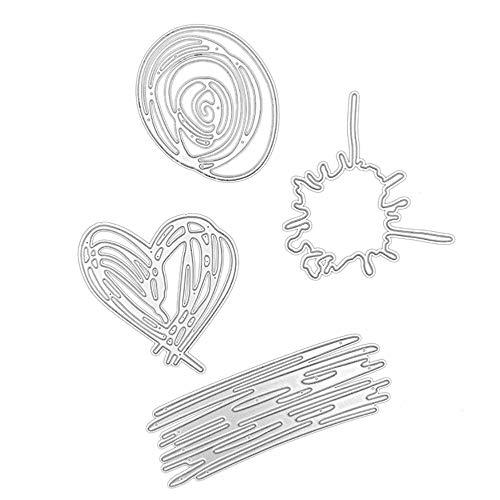 Andouy Stanzschablonen Scrapbooking Schablonen Stanzbögen Stanzformen Metall Sterben,für Sizzix Big Shot/Cricut Cuttlebug/und Andere Stanzmaschine(E,Graffiti 10,1 x 15,6 cm)