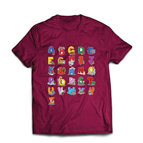 Irland Kostüm Kleinkind - lepni.me Männer T-Shirt Das Alphabet, ABC Lied, Geschenke für Kinder (XX-Large Burgund Mehrfarben)