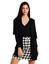 Forever 21 Womens Cotton Cardigan (00199269042_0019926904_ BLACK_2/S)