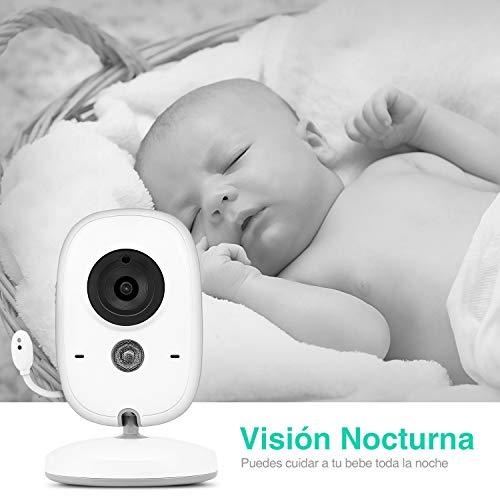 Imagen para Vigilabebés Inalambrico con Cámara, BOIFUN Monitor de Bebé Inteligente con Pantalla LCD de 3.2