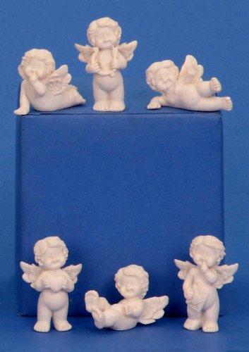24 süsse Engel Figuren je 3,5 cm Schutzengel Hochzeit Taufe Gast Geschenke (Engel Figur Taufe)