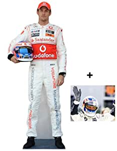 *Fan Pack* - Jenson Button Lifesize Cardboard Cutout (Standee / Standup) - Includes 8X10 (25X20Cm) Star Photo - Fan Pack #244