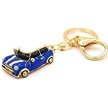Mini Auto Cooper Azul Llavero de VMG de Store