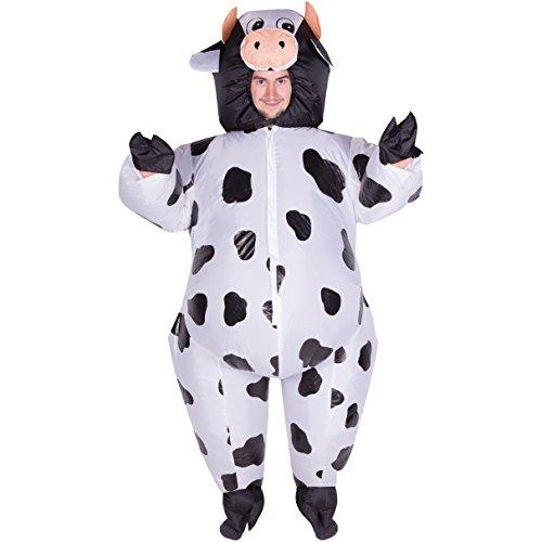 Kostüme Halloween Reit Tier (Aufblasbares Kuhkostüm für)