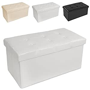 tectake 80x40x40 cm faltbarer sitzhocker aufbewahrungsbox sitzw rfel mit stauraum kunstleder. Black Bedroom Furniture Sets. Home Design Ideas
