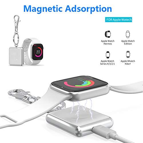 jieGREAT Räumungsverkauf  , Für Apple Watch 1234 Serie 38 40 42 44 mm iWatch Tragbares Taschenladegerät - Apple-weiß-kleidung