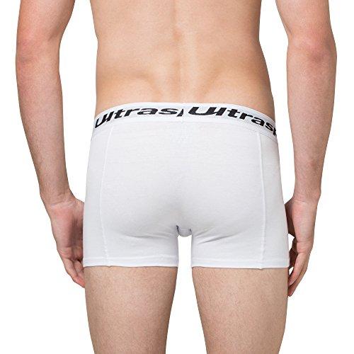 Ultrasport Herren Boxershorts - Unterhose in verschiedenen Farben & Sets 4er Set, Weiß