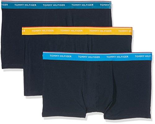 Tommy Hilfiger Herren Shorts, 3er Pack Mehrfarbig (Celestial Blue-Pt / French Blue-Pt / Cititrus-Pt 474)