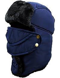 Unisex Sombrero de Invierno Sombrero de Felpa Sombrero a Prueba de Viento Sombrero Caliente Gorro Antipolvo Sombrero de Esquí Ciclismo