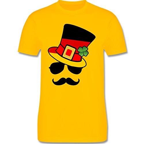 EM 2016 - Frankreich - Deutschland Fan Hipster - Herren Premium T-Shirt Gelb