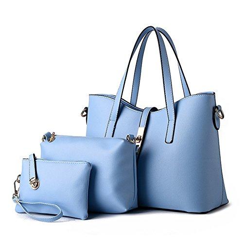 fanhappygo Fashion Damen Leder Abendtaschen Umhängetasche Schultertasche Handtasche blau