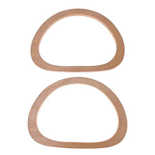 SUPVOX Taschengriff Handtasche Holz DIY Taschenherstellung Ersatz Zubehör 2pcs