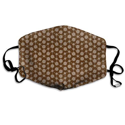 Beige Tan Khaki (Texture Solid Chocolate Brown Tan Beige Khaki Neutral Spots Polka Dots Math Fall Quilt Coordinate Home Decor Anti Dust Mask Anti Pollution Washable Reusable Mouth Masks)