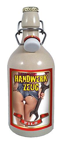 Handwerkzeug 0,5 Liter Tonflasche Bier mit Bügelverschluss