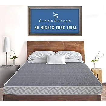 i Sleep Seven Coir & Foam Double Bed Mattress 4 inch | Reversible Medium Firm Mattress for Double Bed Size 72 x 48 x 4 inch