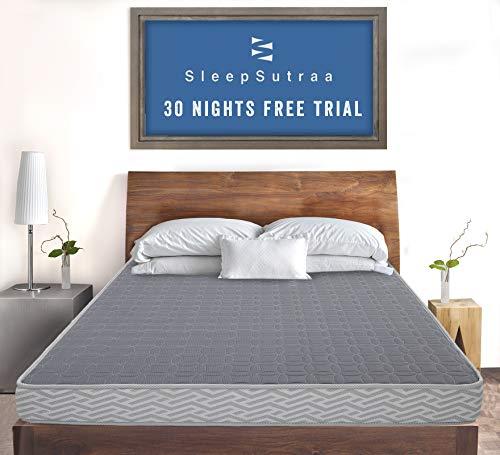 i Sleep Seven Koco Foam & Coir Single Size Mattress 4 inch | Reversible Medium Firm Mattresses for Single Size 72 x 30 x 4 inches