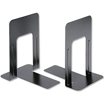 5 Star Office Book Ends Metal Heavy-duty 178mm Black (Pack 2)