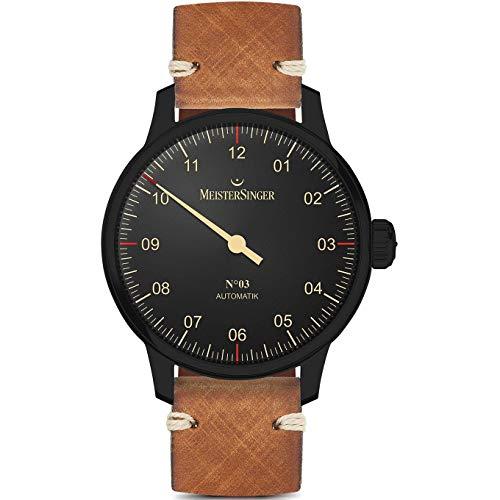 Meistersinger Black Line Reloj de Hombre automático 43mm AM902BL