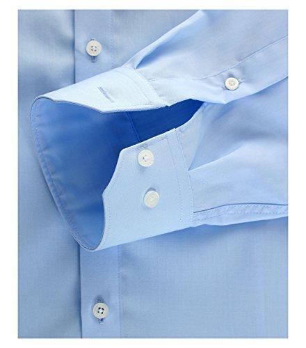 Michaelax-Fashion-Trade - Chemise casual - Uni - Col Chemise Classique - Manches Longues - Homme Blau (102)
