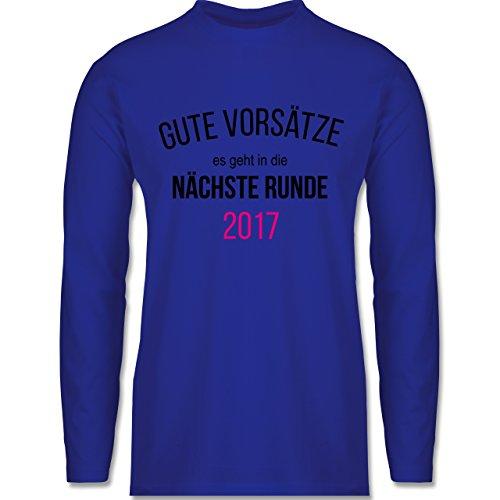 Weihnachten & Silvester - Lustiges Neujahr Motiv - Longsleeve / langärmeliges T-Shirt für Herren Royalblau