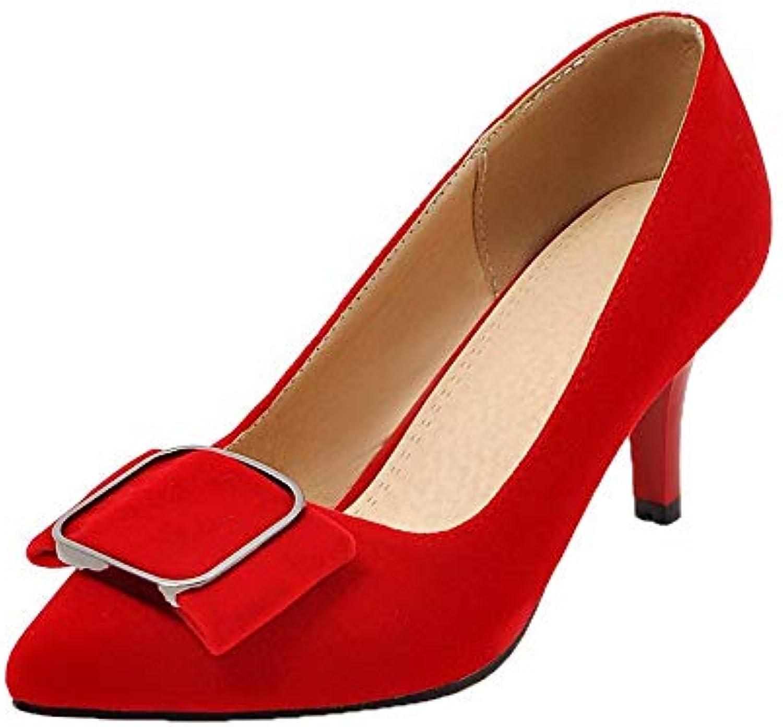 AgooLar Couleur Femme Tire à Talon Haut DépolisseHommes t Couleur AgooLar Unie Chaussures Légeres, GMBDB013257B07H9S9C49Parent 3edd2b