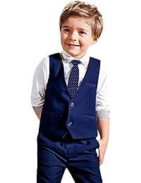 6e7f36d136263b Kinlene-bambino Ragazzi a Maniche Lunghe Camicia Gentleman + Cravatta +  Vest + Pants Set