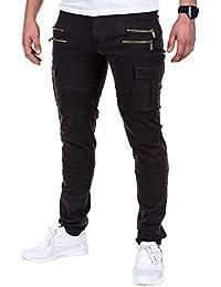 BetterStylz ChelseaBZ Zip Cargo Chino Stylische Gesteppte Regular Fit Hose Große Seitentaschen in div. Farben (S-XXL)