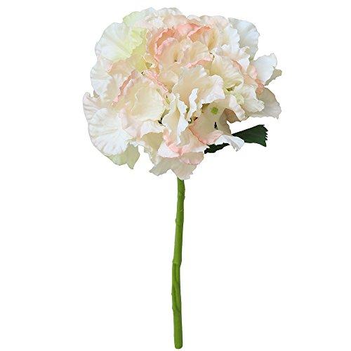 Lazzboy Artificial Silk Fake Flowers Peony Floral Wedding Bouquet Bridal Hydrangea Künstlich Kunstseide Gefälschte Blumen Pfingstrose Braut Hortensien Deko Pflanzen(I)