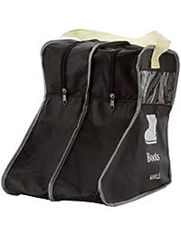 Fyore Sac à Chaussures en Non Tissé Sac à Bottes contre Poussière Poignée pour Transporter Pièce Transparents Protéger Chaussures (29*28*24cm)