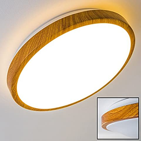Plafonnier LED Sora Wood - 18 Watt - 3000 Kelvin ( blanc chaud )