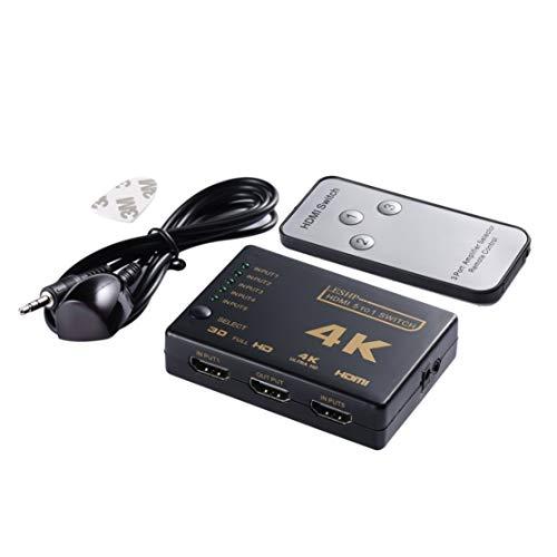 LouiseEvel215 Schwarz 5 zu 1 4K 1080P HDMI Schalter Video Audio Switcher Splitter Hub für PS4 HD TV HDML1.4b High Definition Hdmi-video-switching