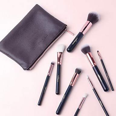SHUAZIX 8 Make-up Pinsel Set Ziege Haar Full Coverage Kunststoff Gesicht Auge -