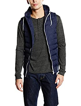 Urban Classics Small Bubble Hooded Vest, Chaleco Acolchado para Hombre