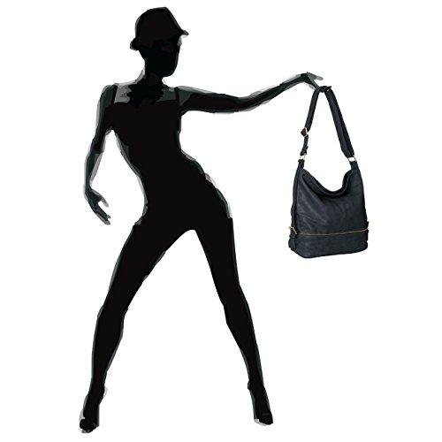 CASPAR Taschen & Accessoires, Borsa a tracolla donna Dunkelblau