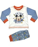Baby Boys Pyjamas Kids Toddlers Disney Mickey Mouse Pjs Set Size UK 6-24 Months