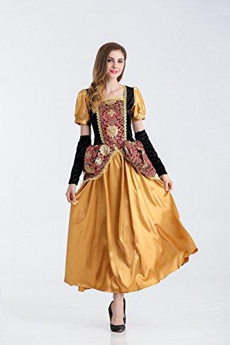 Ruanyi Europäisches Gericht Märchen Prinzessin Rollenspiel Versuchung Halloween Königin Spiel Uniform für Frauen (Size : L)
