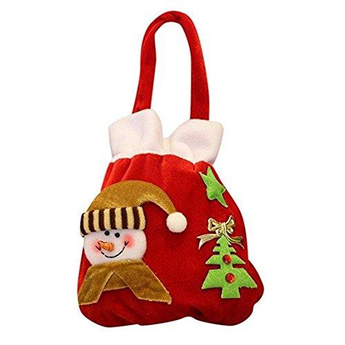 asche, Süßigkeiten Taschen, Weihnachtsmann / Schneemann Candy Geschenktüte, Party Christbaumschmuck , B (Mini-filz-weihnachts-strümpfe)