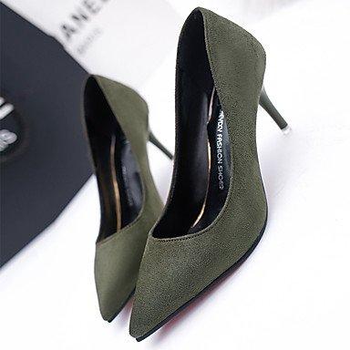CH&TOU Da donna-Tacchi-Casual-Comoda-A stiletto Tacco in cristallo-PU (Poliuretano)-Nero Verde Rosso Grigio green