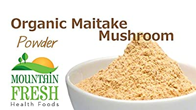 Organic Maitake Mushroom Powder - Superfood Supplement 25g FREE UK Delivery by MountainFresh