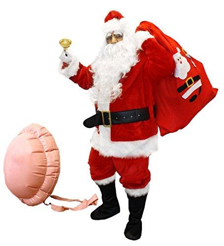 13Piece Super Deluxe-Costume da Babbo Natale con accessori professionale di