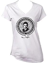 Teesquare1st Women's FRANZ KAFKA - DON´T BEND_ DON´T WATER IT DOWN White T-Shirt