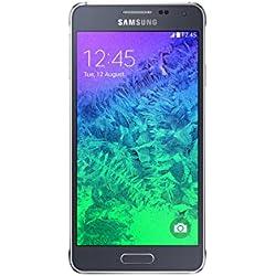 Samsung Galaxy Alpha Smartphone débloqué 4G (Ecran : 4.7 pouces - 32 Go - Android 4.4 KitKat) Noir (import Europe)