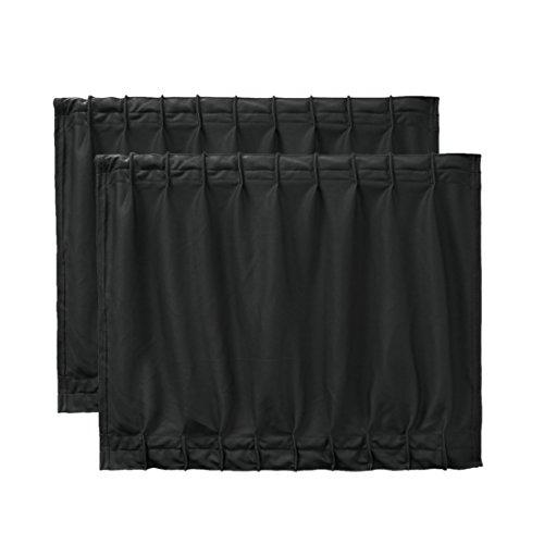Vorhang-track-teile (2 Stück 50 x 39cm schwarz einstellbare VIP Auto Seitenfenster Sonnenschutz Vorhang Polyester Tuch-Vorhang Sonnenschirm UV-Schutz)