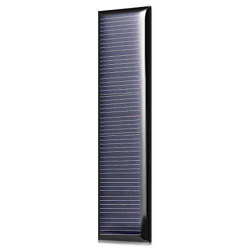 Compruebe por favor el modelo, voltaje, y el otro parámetro.   LDTR-WG0096 / A 5.5V 60mA 100 x 28mm Silicio Panel Solar Policristalino - NEGRO   Principales características:   ● Excelente efecto de poca luz.   ● Alta tasa de conversión, salida de ...